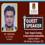 23rd August 2021 – AI IN MODERN FARMING! A webinar by Mr. Abhishek  for students of Grade VI.